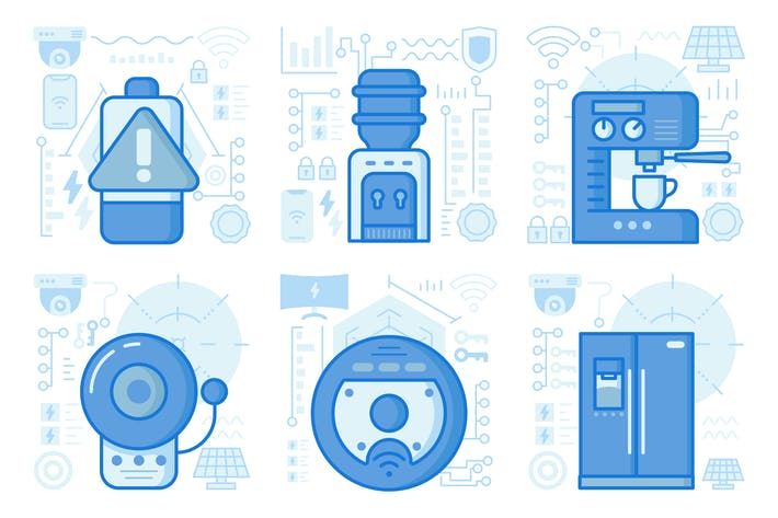 Thumbnail for Smart Home Appliances UI UX Illustrations