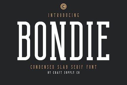 Bondie Slab - Condensed Slab Serif Font