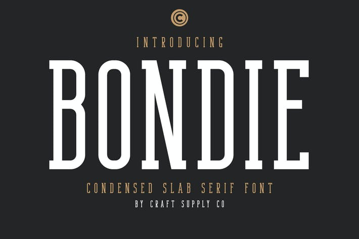 Thumbnail for Bondie Slab - Condensed Slab Serif Font