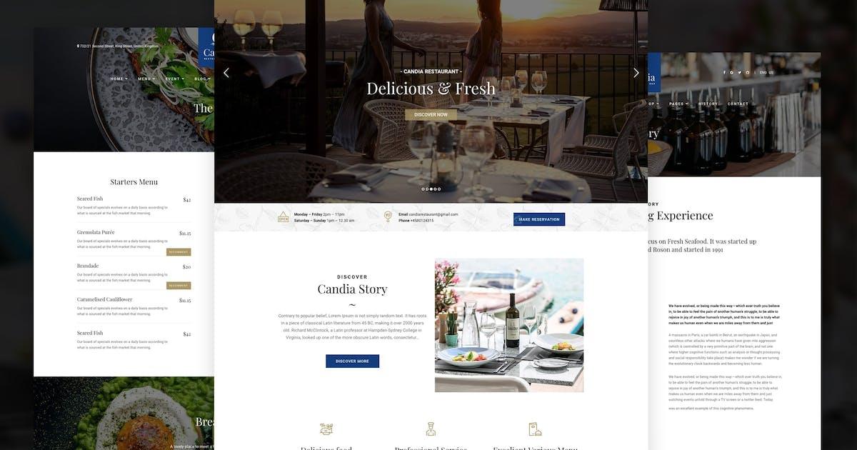 Download Candia - Bar & Restaurant WordPress Theme by awethemes