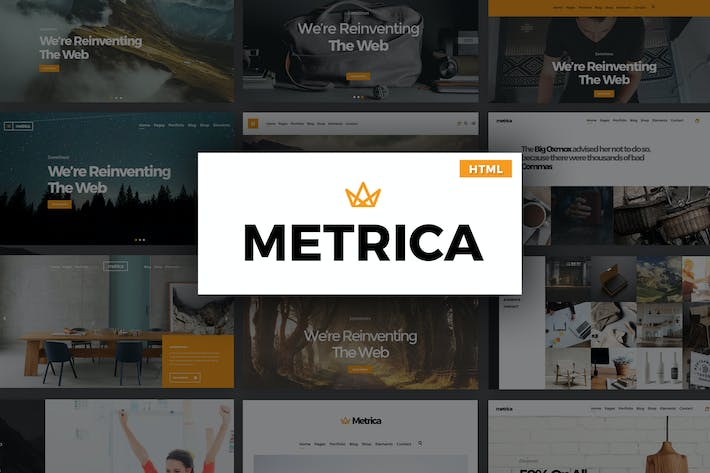 Thumbnail for Metrica - Multipurpose HTML Template