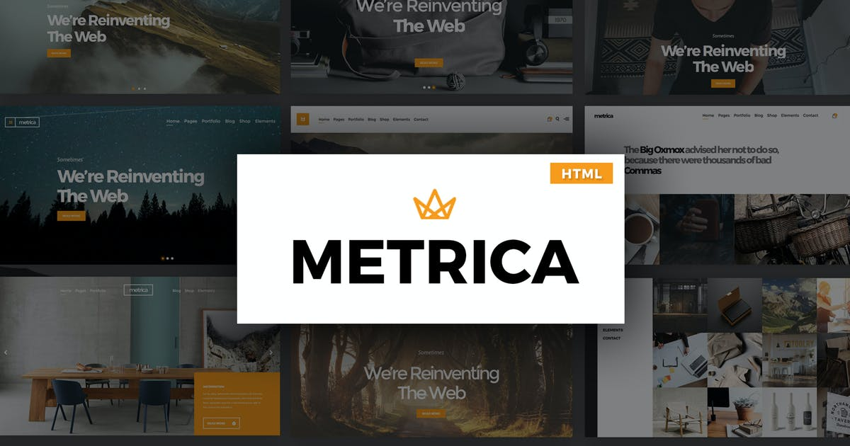 Download Metrica - Multipurpose HTML Template by Theme-Squared