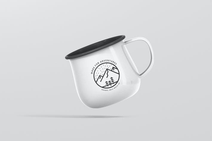Thumbnail for Round Enamel Mug Mockup