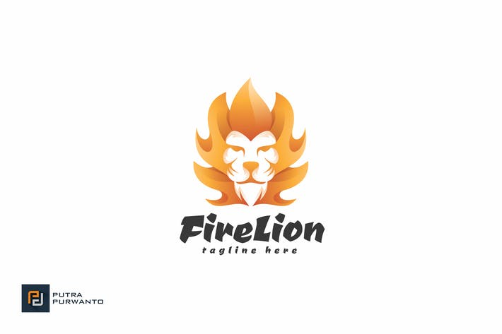 Cover Image For Fire Lion - Logo Template