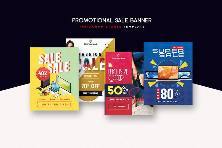 Thumbnail for Promotional Banners & Instagram Stories Templates