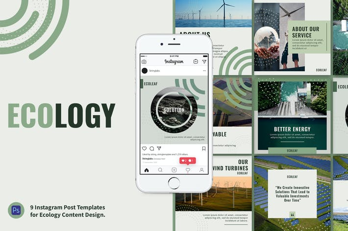 Thumbnail for Ecology Instagram Post Template