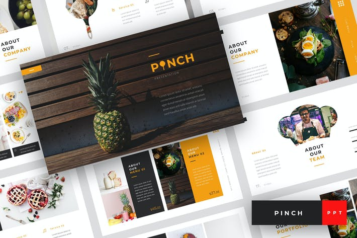 Thumbnail for Pinch - Food PowerPoint Template
