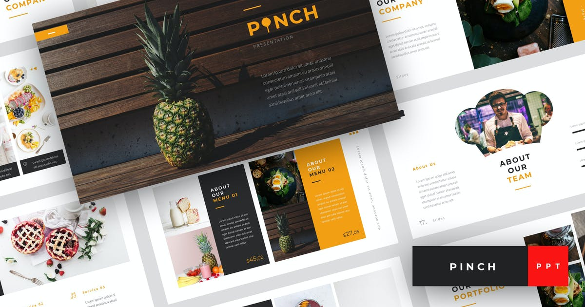 Download Pinch - Food PowerPoint Template by StringLabs