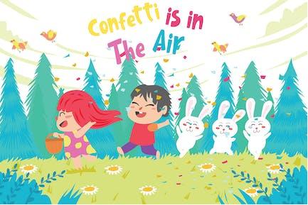 Confetti - Vector Illustration