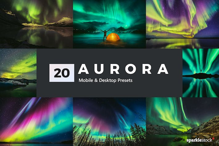 Thumbnail for 20 Aurora Lightroom Presets and LUTs
