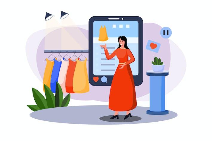 Thumbnail for Marketingmitarbeiterin macht Werbung