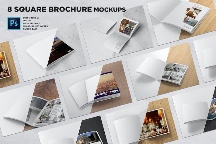 Thumbnail for Square Brochure Mockups