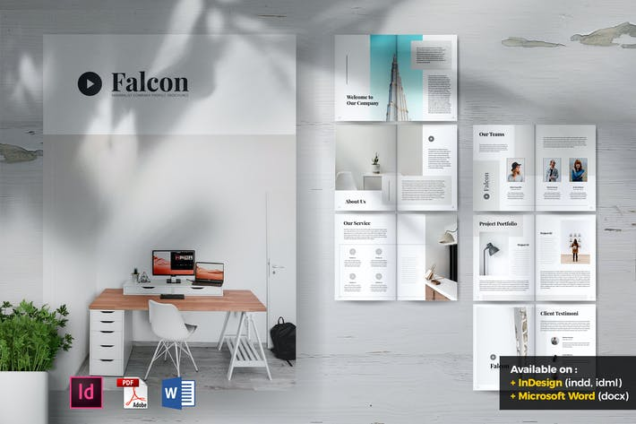 Thumbnail for FALCON Creative Agency Company Profile Brochures
