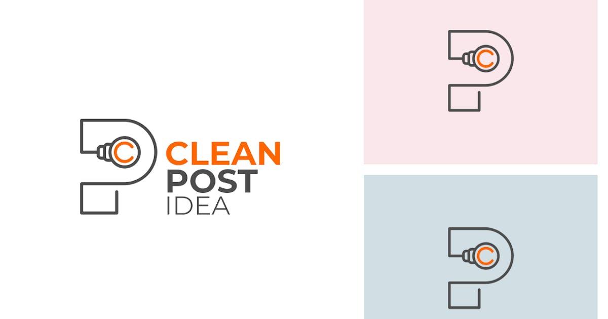 Download Clean P Letter Logo by sagesmask