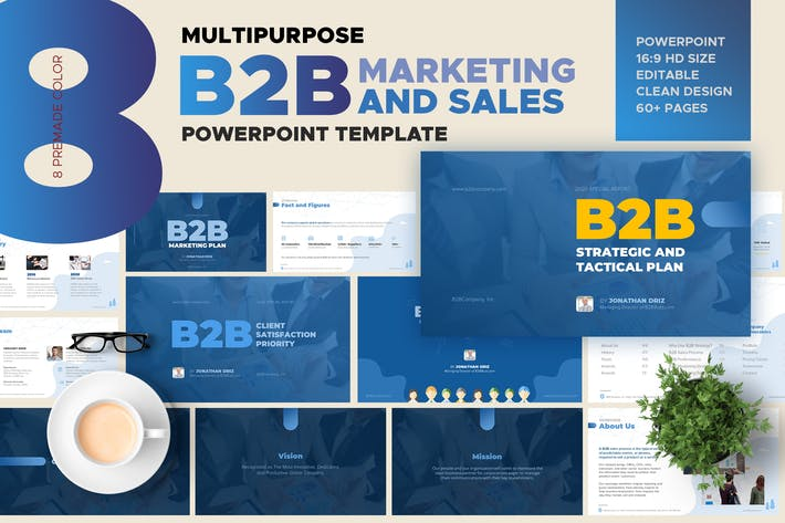 Thumbnail for B2B Marketing and Sales Powerpoint