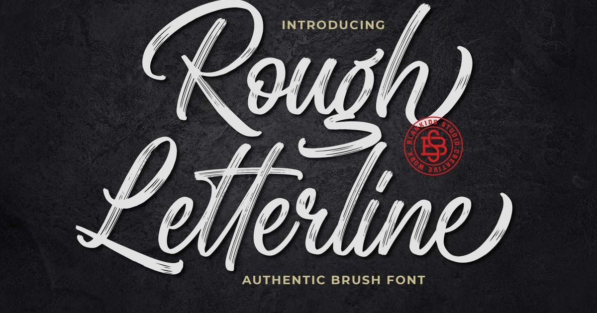 Download Rough Letterline Authentic Brush Font by Blankids