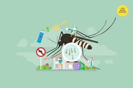 Mosquito Disease Prevention Vector Concept