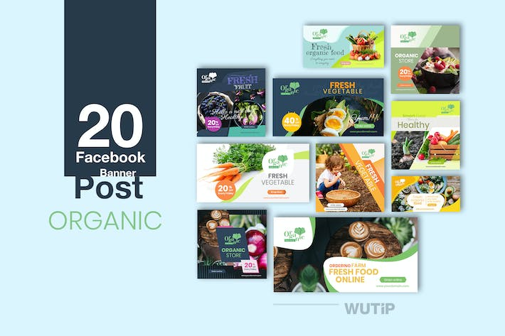 Thumbnail for 20 Facebook Post Banner - Organic