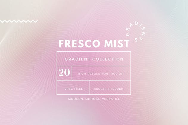 Fresco Mist Gradient Background Collection