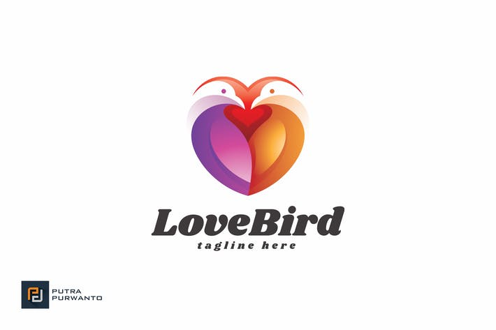 Thumbnail for Love Bird - Logo Template