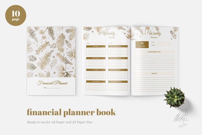 Thumbnail for Finance Daily Planner Book
