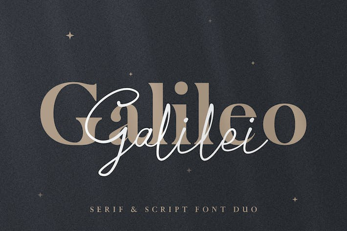 Thumbnail for Galileo Galilei - Con serifa & Script Duo