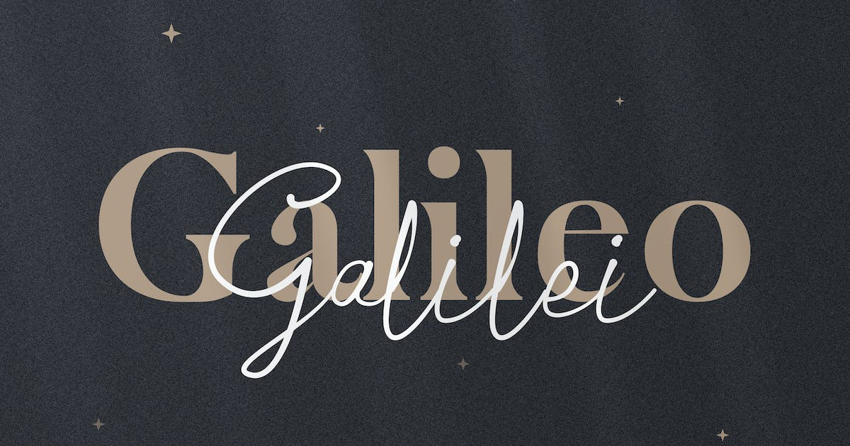 Download Galileo Galilei - Serif & Script Duo by andrewtimothy