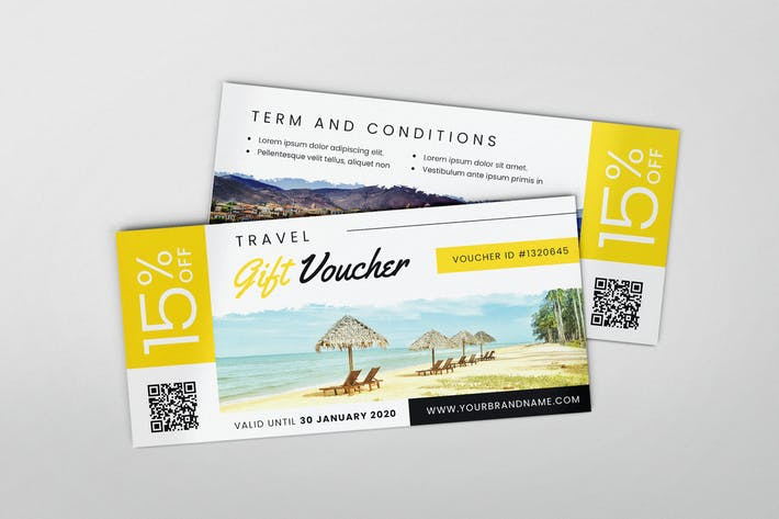 Thumbnail for Travel Voucher AI and PSD Gift Voucher