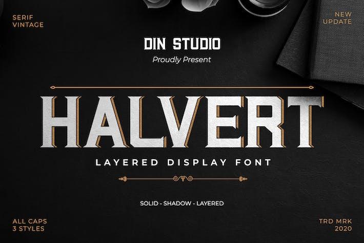 Thumbnail for Halvert-Layered Display Font