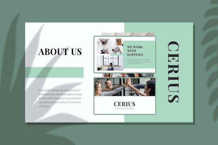 Thumbnail for CERIUS — Творческий бизнес Google Слайд Шаблон