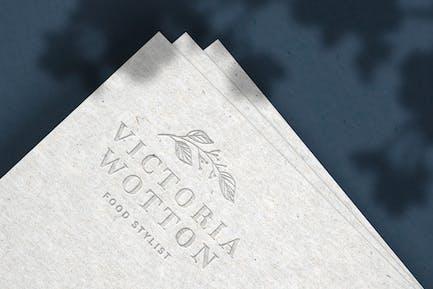 Debossed Logo Mockup on Recycled Paper