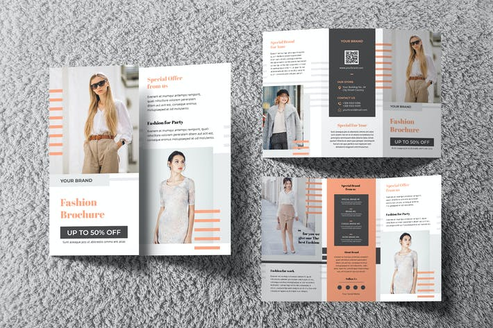 Cover Image For Fashion Trifold Brochure