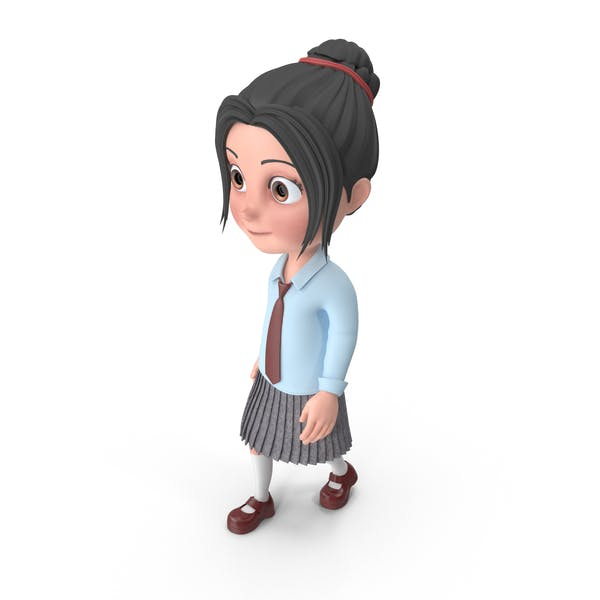Cartoon Girl Emma Walking