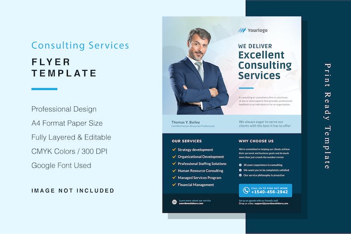 Thumbnail for Consulting Services Flyer Template