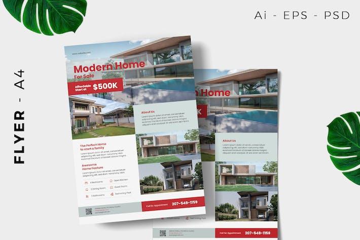 Modern Home Listing Flyer Design
