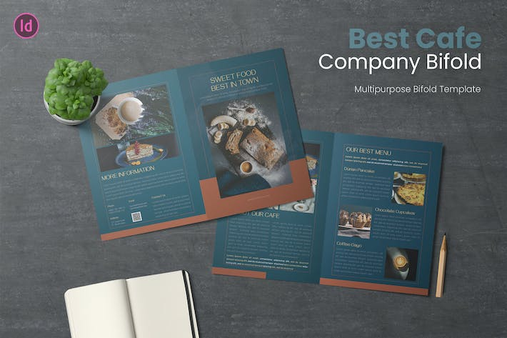 Thumbnail for Best Cafe Bifold Brochure