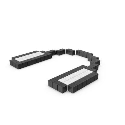 Icono de auriculares pixelados