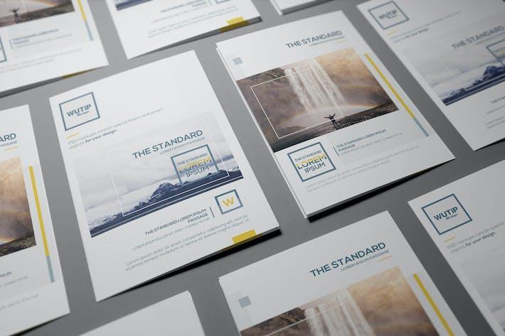 Thumbnail for Bi-Fold A5 Brochure/ Leaflet Mockups