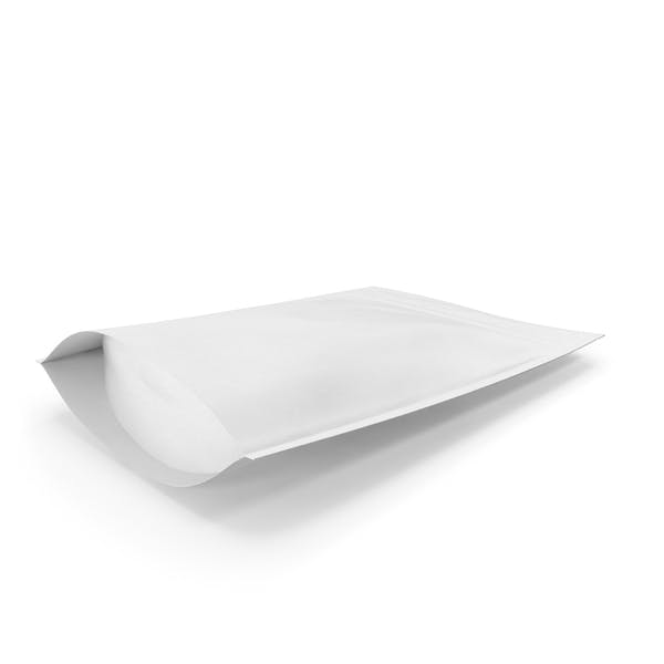 Zipper White Paper Bag 200g