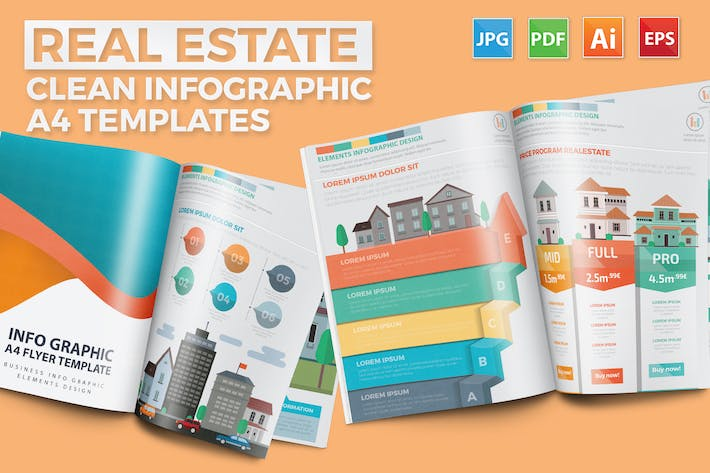 Thumbnail for Real estate infographic Design