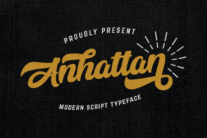 Thumbnail for Anhattan - Fuente de escritura en negrita retro