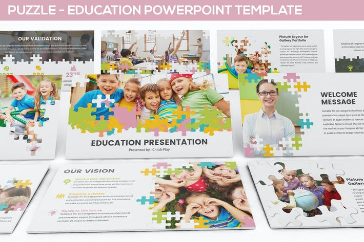 Thumbnail for Puzzle - Education Powerpoint Template