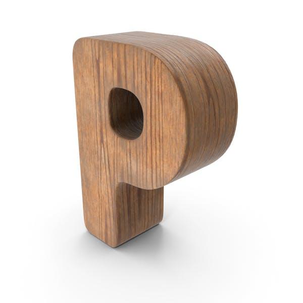 P Деревянная буква