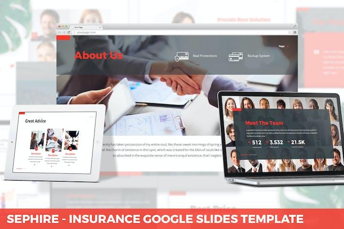 Thumbnail for Sephire - Insurance Google Slides Template