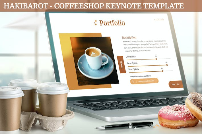 Thumbnail for Hakibarot - Coffeeshop Keynote Template