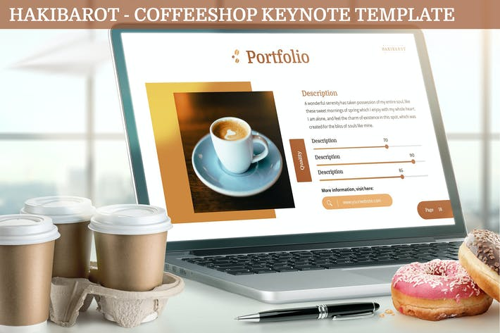 Cover Image For Hakibarot - Coffeeshop Keynote Template