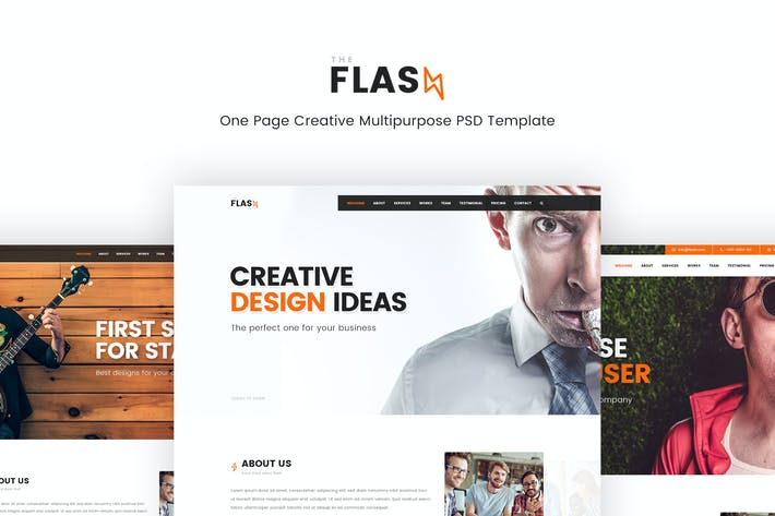 Thumbnail for Flash – Creative Multipurpose PSD Template