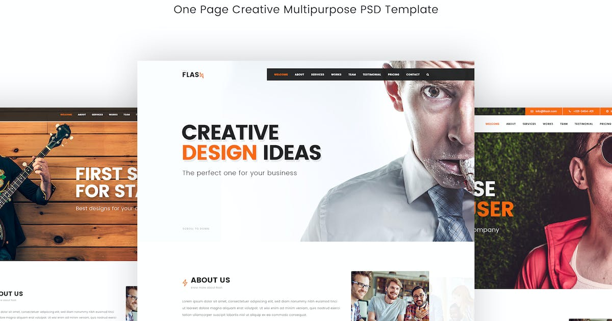 Flash – Creative Multipurpose PSD Template by Unknow