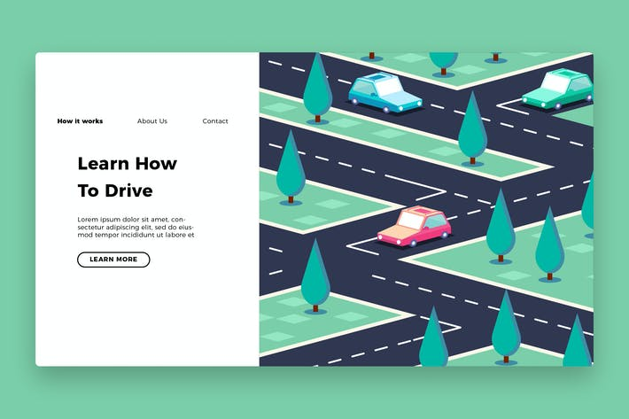 Thumbnail for Driving School - Banner & Landing Page