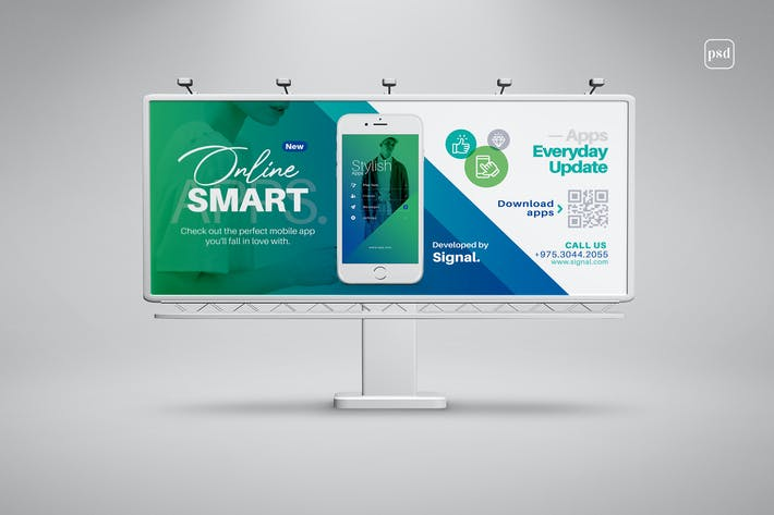 Mobile Apps Billboard Template